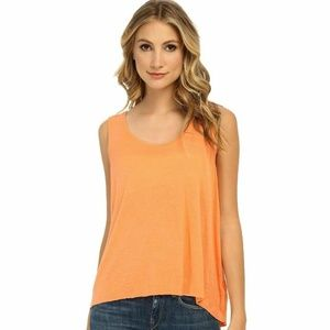 We the Free People Linen Orange Draped Tank Top
